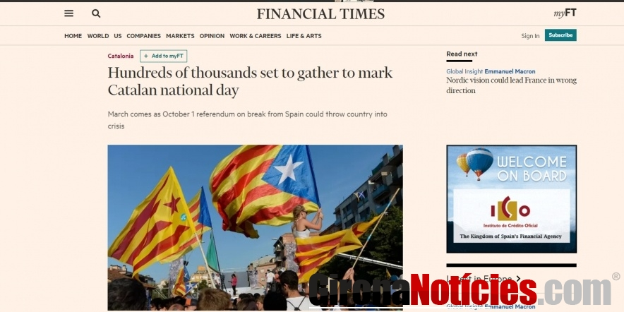 Article al 'Financial Times' sobre la Diada