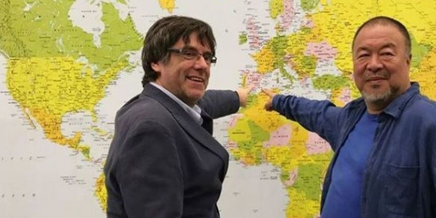 Puigdemont y Ai Weiwei