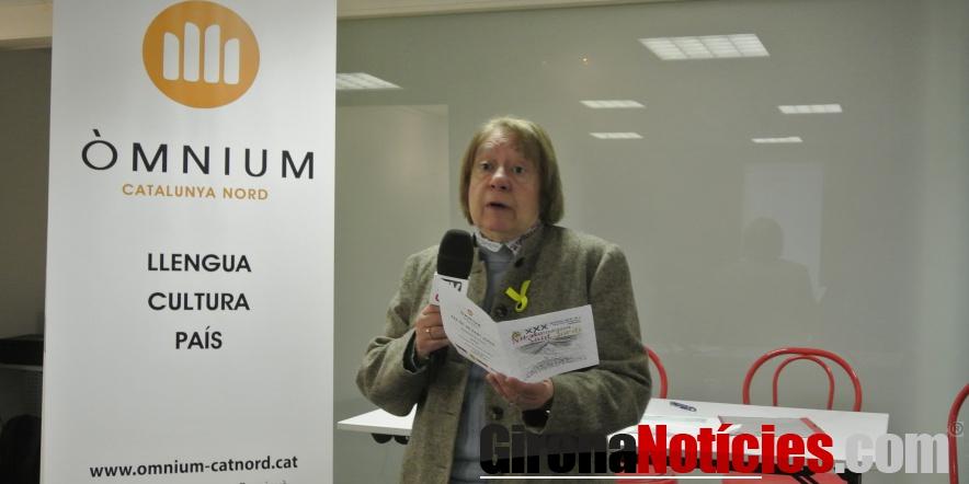 Montserrat Biosca, presidenta d'Òmnium Catalunya Nord