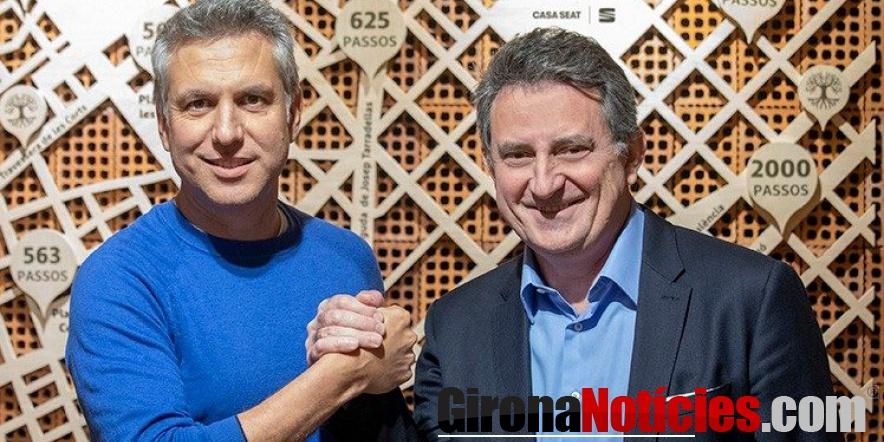 alt - Josep Ametller director de Ametller Origen y Gabriele Palma director de CASA SEAT
