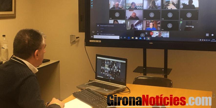 Video conferència de l'alcalde Viñas