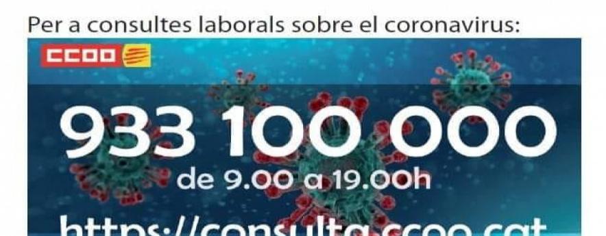 alt - Comissions Obreres de Catalunya atén prop de 9.000 consultes laborals a distància des de l'inici de l'emergència sanitària