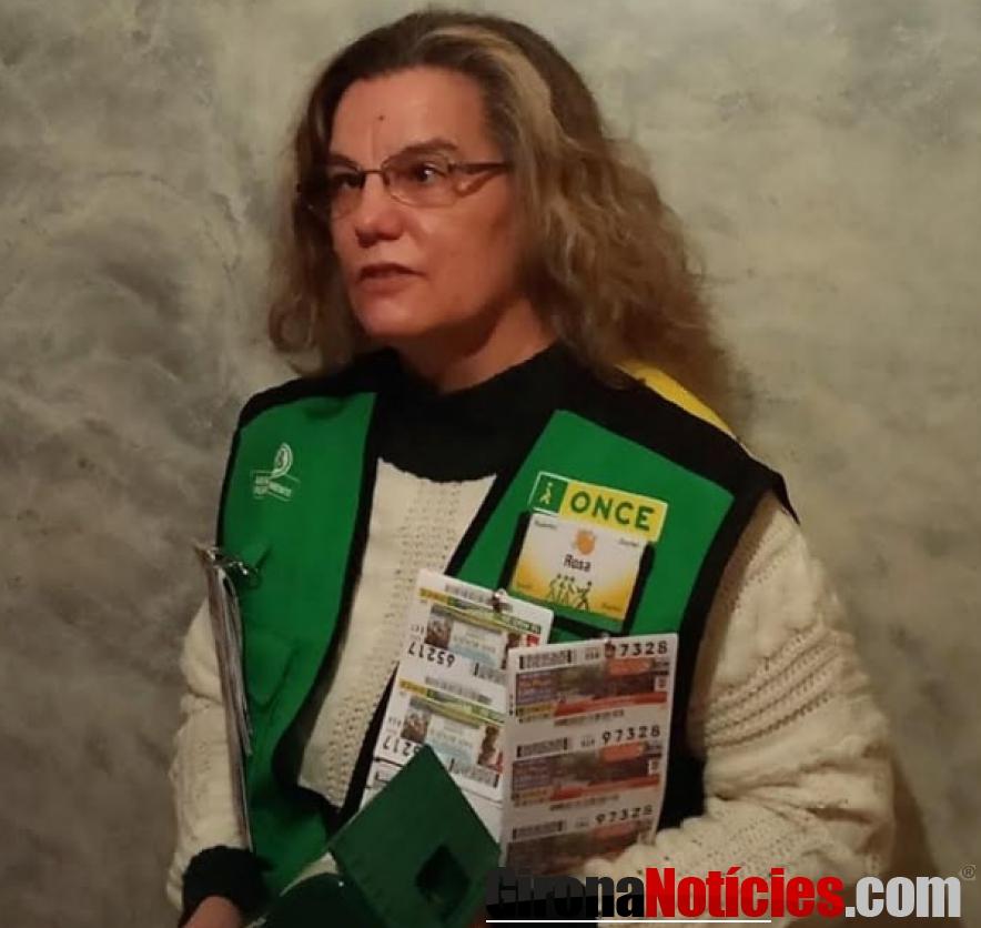 Rosa Pinto Venedora ONCE Girona