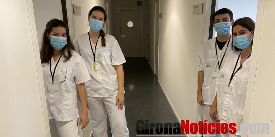 Estudiants i allotjament a l'Hospital d'Olot
