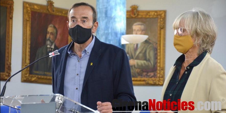 L'alcalde Pep Berga i la regidora d'Hisenda Montse Torras