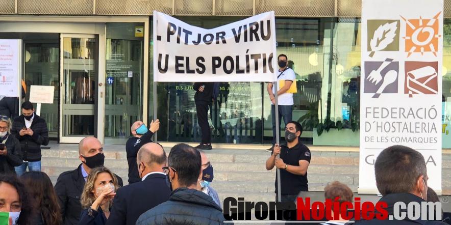 manifestants a Girona