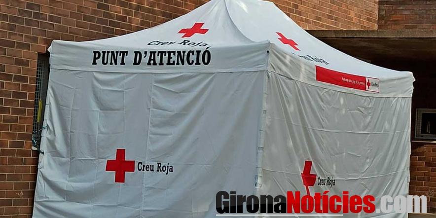 Carpa de la Creu Roja a Besalú /GN