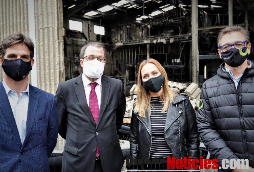 Visita a la planta incendiada de SILENCE en Molins de Rei