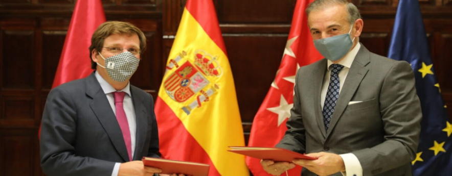 alt - Almeida firma un convenio de colaboración público-privada para la remodelación del entorno del Edificio España