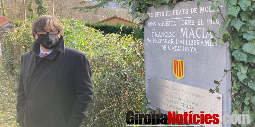 Puigemont a la Vil·la Denise de Prats de Molló