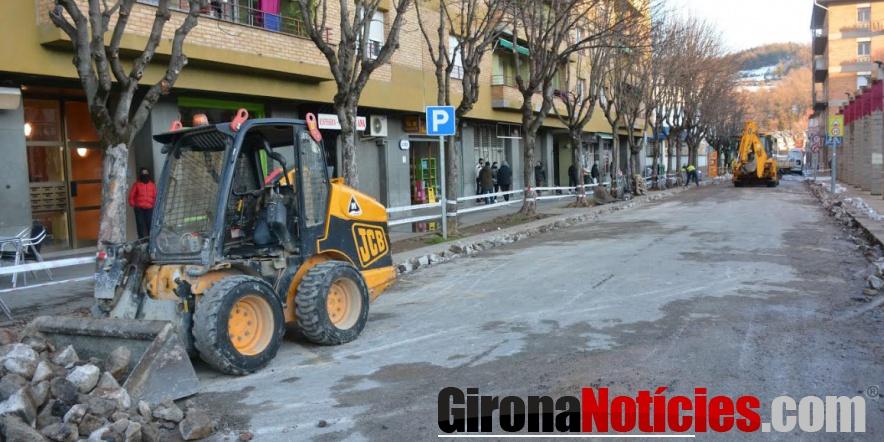 Olot comença les obres per reordenar el trànsit al barri de Sant Miquel