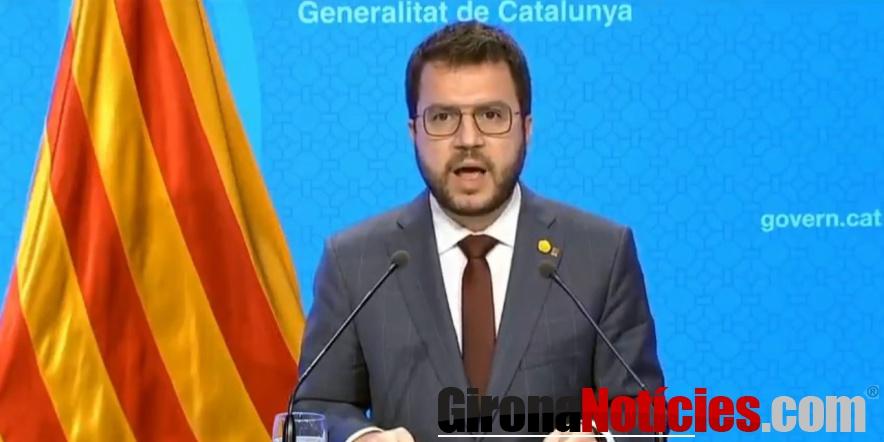 alt - El vicepresident amb funcions de president, Pere Aragonès