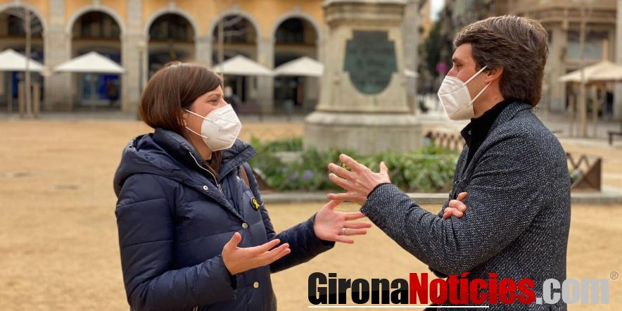 Gemma Geis i Salvador Vergés a Girona