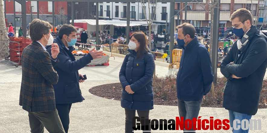 Gemma Geis al mercat d'Olot