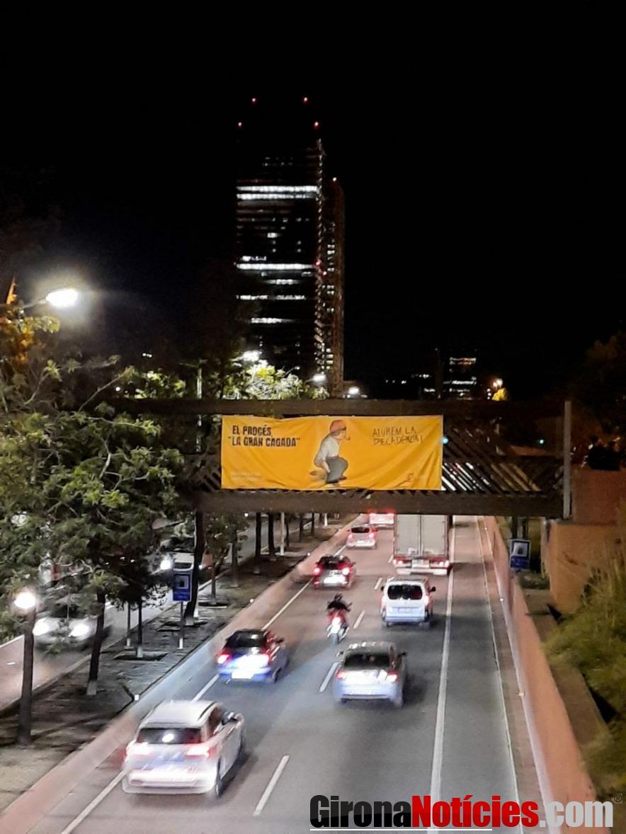Pancarta de SCC a Barcelona