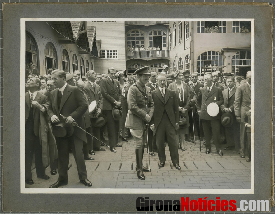 Visita del rei Alfons XIII a la fàbrica Grober 28 de maig de 1930