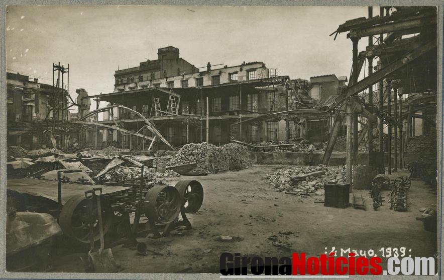 Solar de la fàbrica Grober després de lincendi de 4 de febrer de 1939 (Valentí Fargnoli Iannetta)