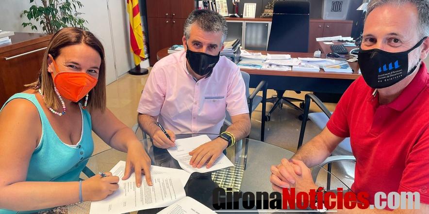 Signatura donació Arxiu Cal Mut