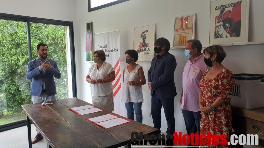 Signatura i reunió al centre de Perpinyà