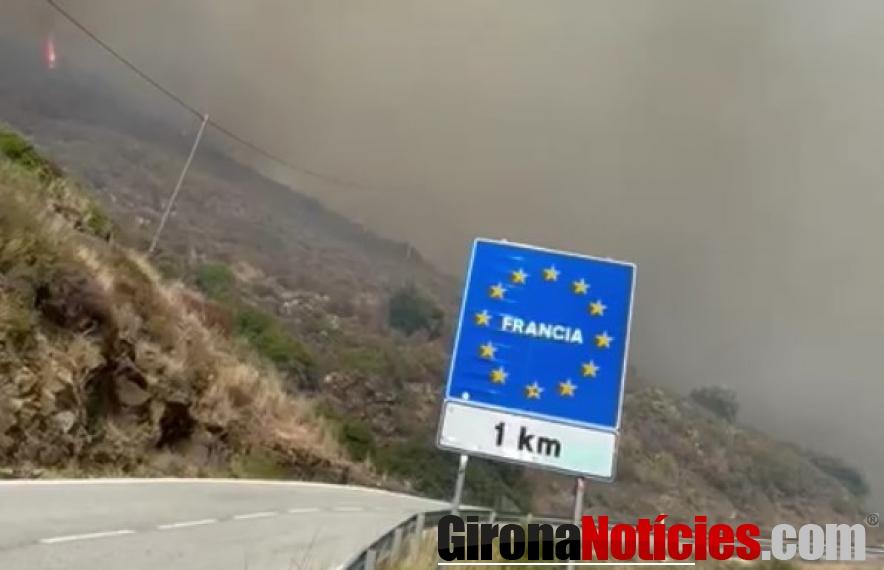 incendi afecta 48 hectàrees de Portbou i Cervera de la Marenda